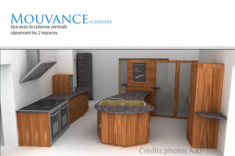 Vue 3D création cuisine
